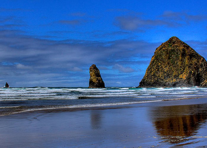 Cannon Beach Greeting Card featuring the photograph Haystack Rock And The Needles IIi by David Patterson