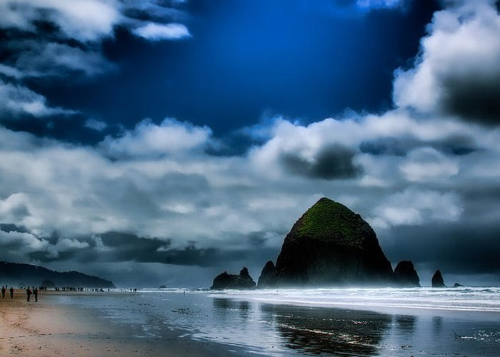 Cannon Beach Greeting Card featuring the photograph Haystack Rock IIi by David Patterson