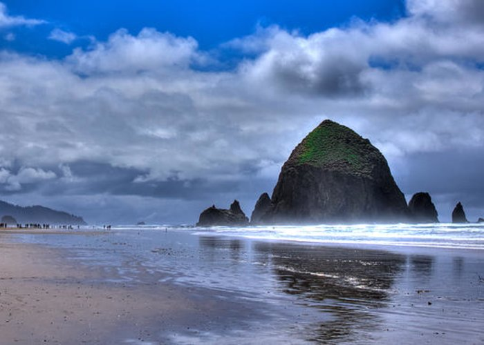 Cannon Beach Greeting Card featuring the photograph Haystack Rock Iva by David Patterson
