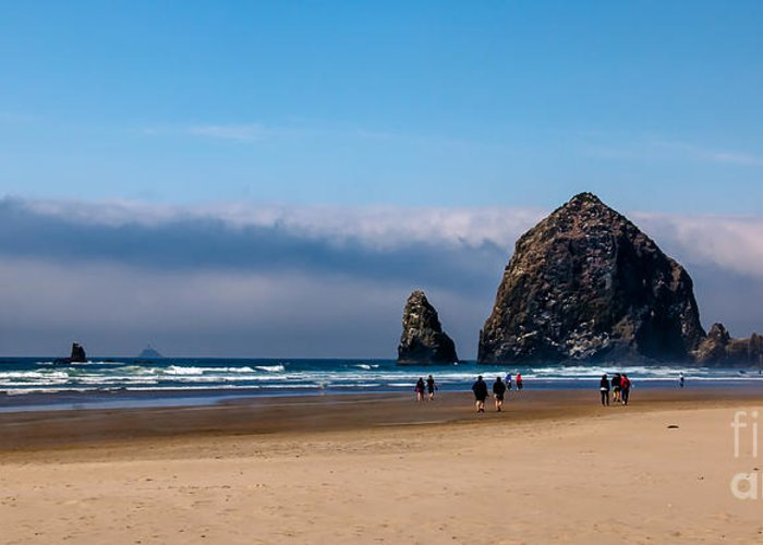 Haystack Rock Greeting Card featuring the photograph Haystack Rock by Robert Bales