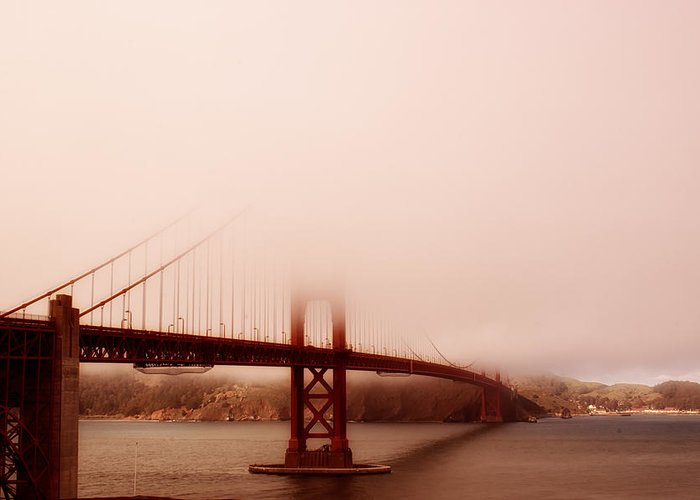 Golden Gate Bridge Greeting Card featuring the photograph Hazy Days by Chad Tracy
