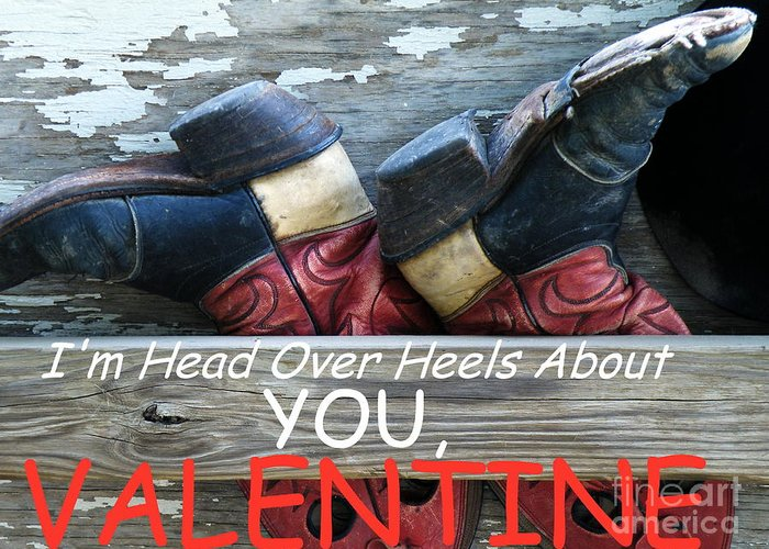Valentine Greeting Card featuring the photograph Head Over Heels Valentine by Joe Jake Pratt