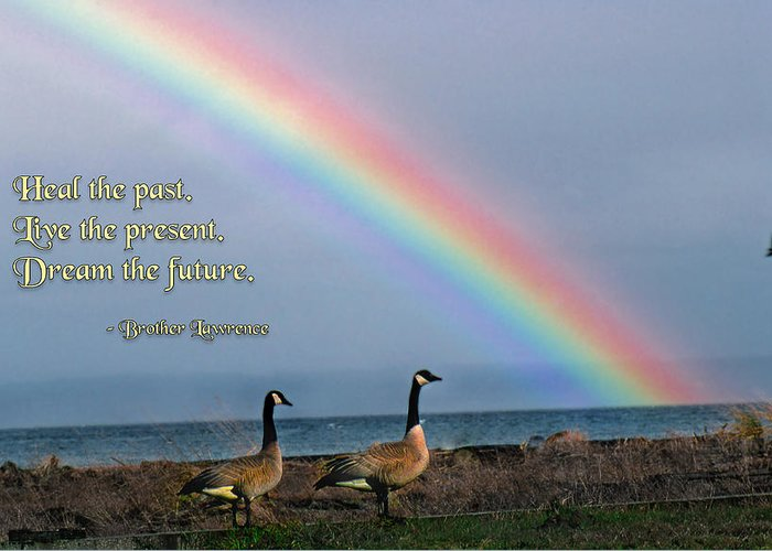 Quotation Greeting Card featuring the photograph Heal The Past by Mike Flynn