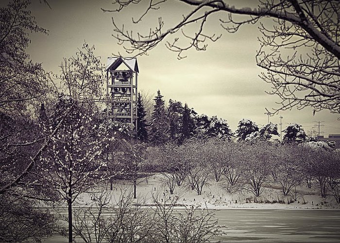 Bell Tower Greeting Card featuring the photograph Hear The Carillon Bells by Julie Palencia