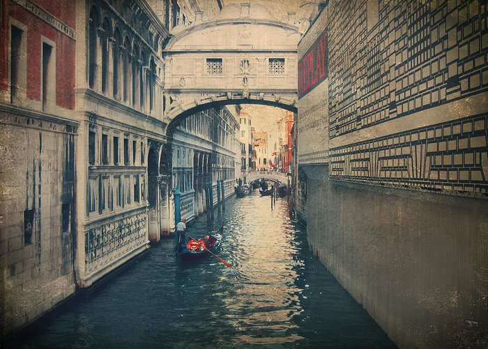 Venice Greeting Card featuring the photograph Hear The Sighs by Laurie Search