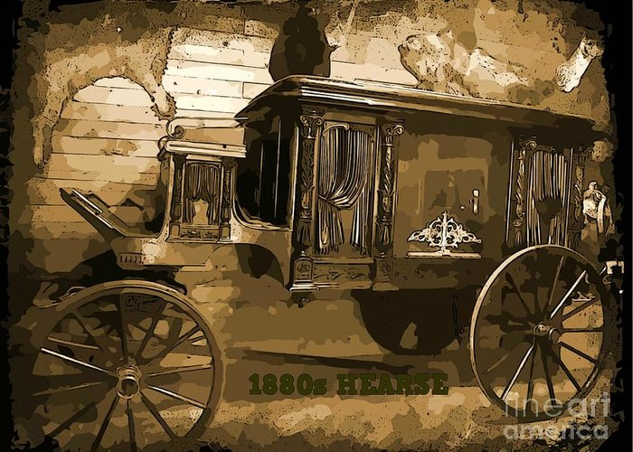Hearse Images Greeting Card featuring the photograph Hearse Poster by Crystal Loppie