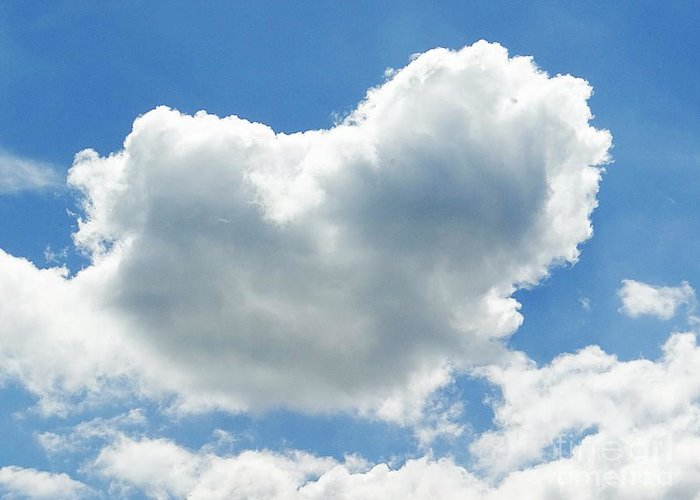 Heart Greeting Card featuring the pyrography Heart In The Clouds by Karin Ravasio