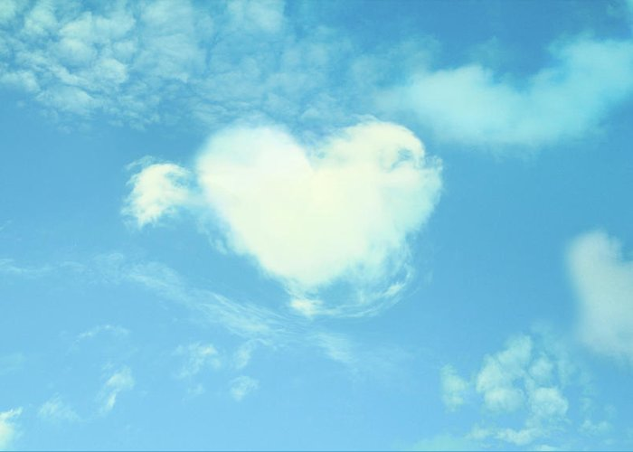 Outdoors Greeting Card featuring the photograph Heart-shaped Cloud by Yurif