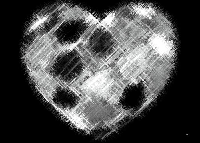 Heart Greeting Card featuring the digital art Heartline 10 by Will Borden