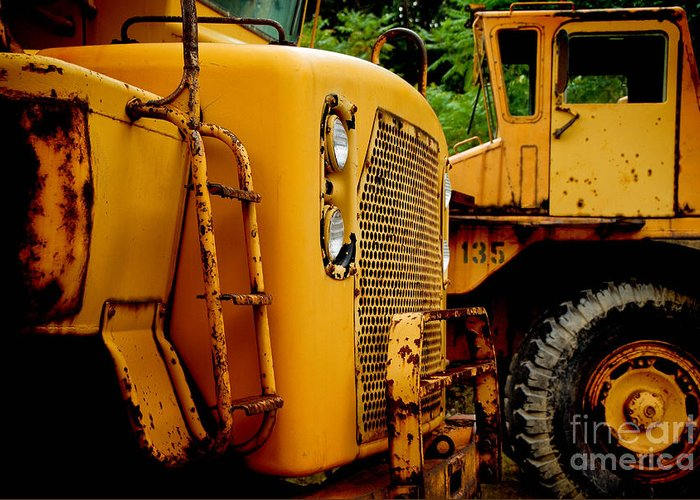 Bulldozer Greeting Card featuring the photograph Heavy Equipment by Amy Cicconi