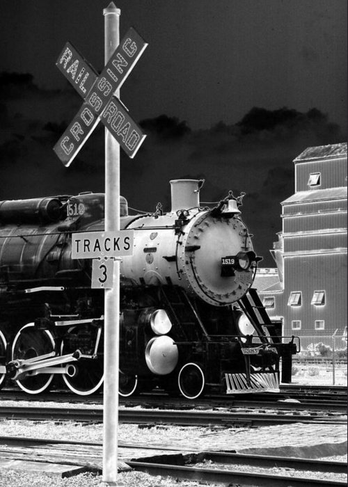 Train Greeting Card featuring the photograph Heavy Metal 1519 - Photopower 1474 by Pamela Critchlow
