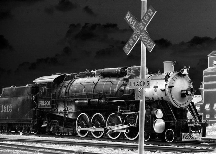 Train Greeting Card featuring the photograph Heavy Metal 1519 - Photopower 1479 by Pamela Critchlow