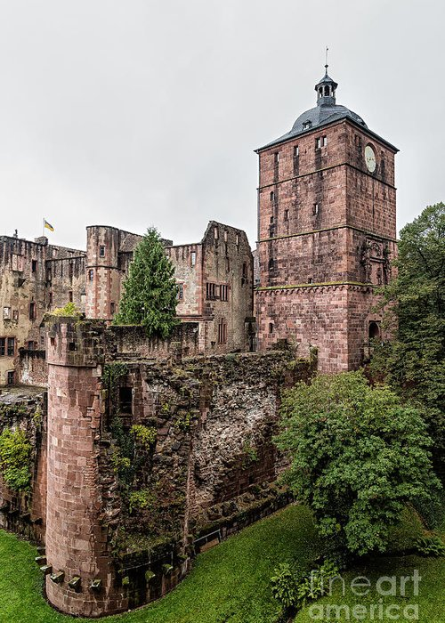 Heidelberg Greeting Card featuring the photograph Heidelberg Castle- A by Rhonda Krause