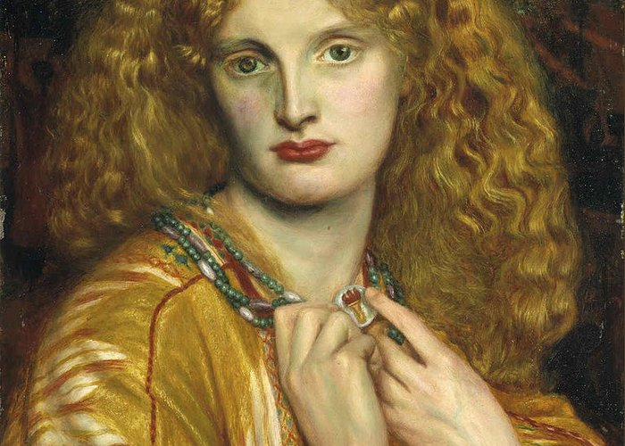 Pre-raphaelite Greeting Card featuring the painting Helen Of Troy by Philip Ralley