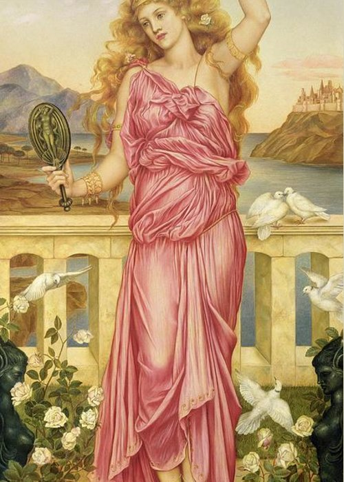 William Greeting Card featuring the painting Helen Of Troy by Evelyn De Morgan