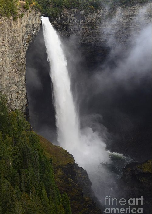 Helmcken Greeting Card featuring the photograph Helmcken Falls 2 by Bob Christopher
