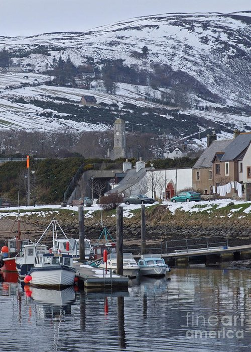 Helmsdale Greeting Card featuring the photograph Helmsdale Harbour - Sutherland by Phil Banks