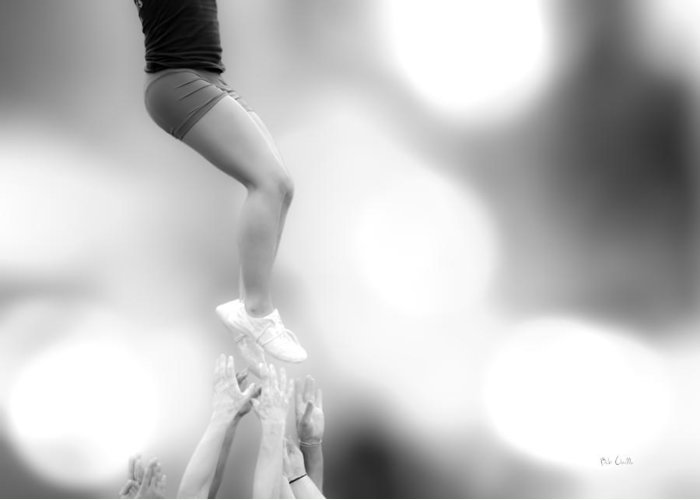 Gymnastics Greeting Card featuring the photograph Helping Hands by Bob Orsillo