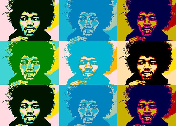 The Jimi Hendrix Experience Greeting Cards