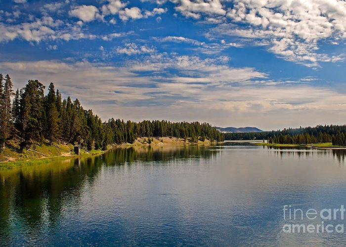 Wyoming Greeting Card featuring the photograph Henry Fork Of Snake River II by Robert Bales