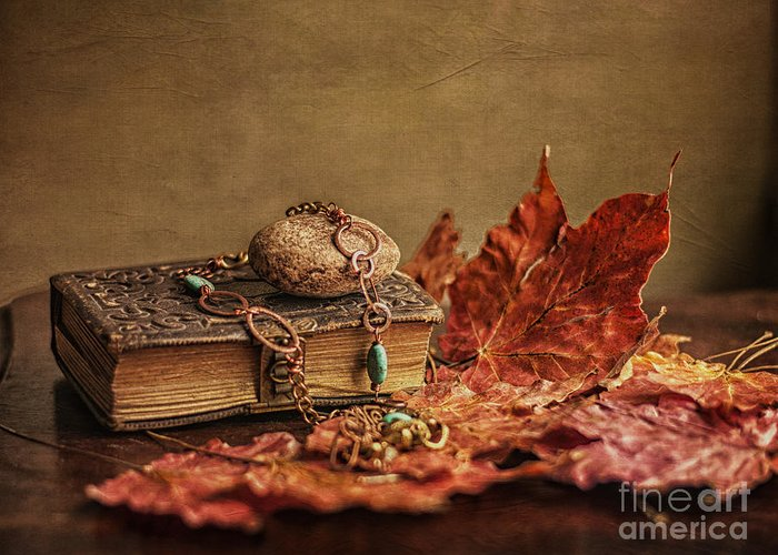 Still Life Greeting Card featuring the photograph Her Old Diary by Terry Rowe