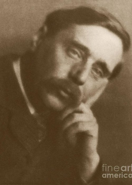 Herbert george wells british author greeting card for sale by rare h g wells greeting card featuring the photograph herbert george wells british author by rare books m4hsunfo
