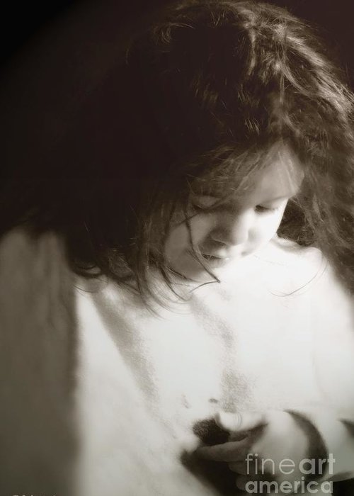 Little Girl Greeting Card featuring the photograph Here's My Heart by RC DeWinter