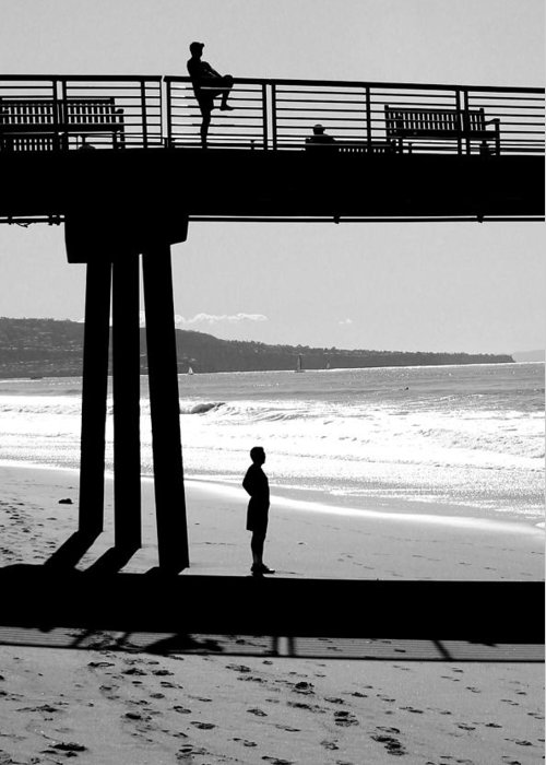 Pier Greeting Card featuring the photograph Hermosa Pier On A Clear Day by Michael Hope