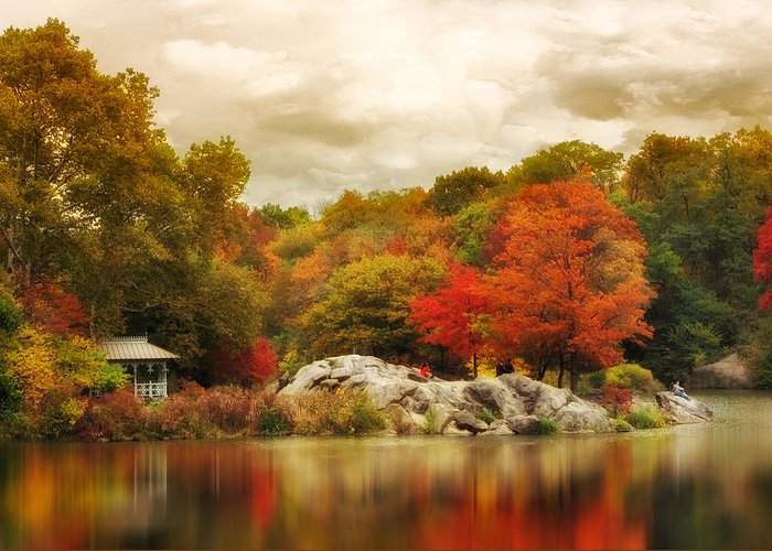 Nature Greeting Card featuring the photograph Hernshead In October by Jessica Jenney