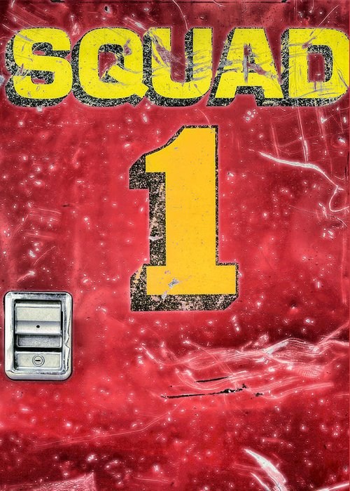 Squad 1 Greeting Card featuring the photograph Heroes by JC Findley