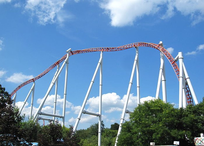 Hershey Greeting Card featuring the photograph Hershey Park - Storm Runner Roller Coaster - 12126 by DC Photographer