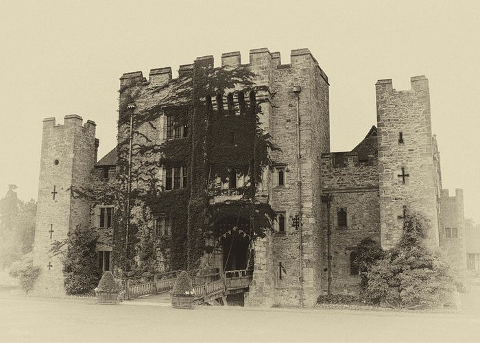 Architecture Greeting Card featuring the photograph Hever Castle Yellow Plate by Chris Thaxter
