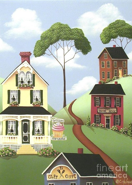 Art Greeting Card featuring the painting Hickory Grove by Catherine Holman