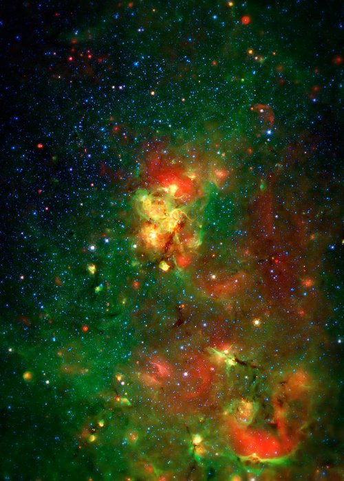 Universe Greeting Card featuring the photograph Hidden Nebula 2 by Jennifer Rondinelli Reilly - Fine Art Photography