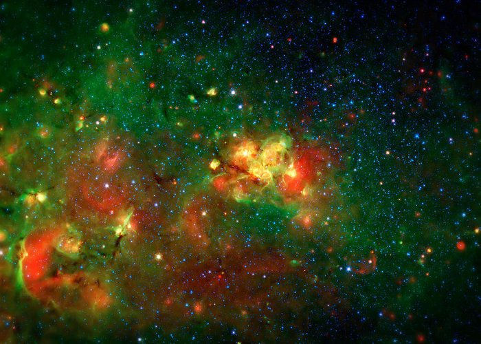 Universe Greeting Card featuring the photograph Hidden Nebula by Jennifer Rondinelli Reilly - Fine Art Photography
