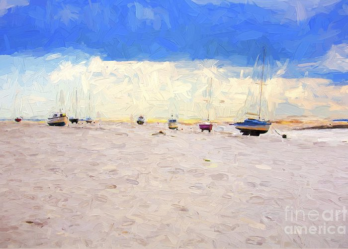 Yachts Greeting Card featuring the photograph High and dry by Sheila Smart Fine Art Photography