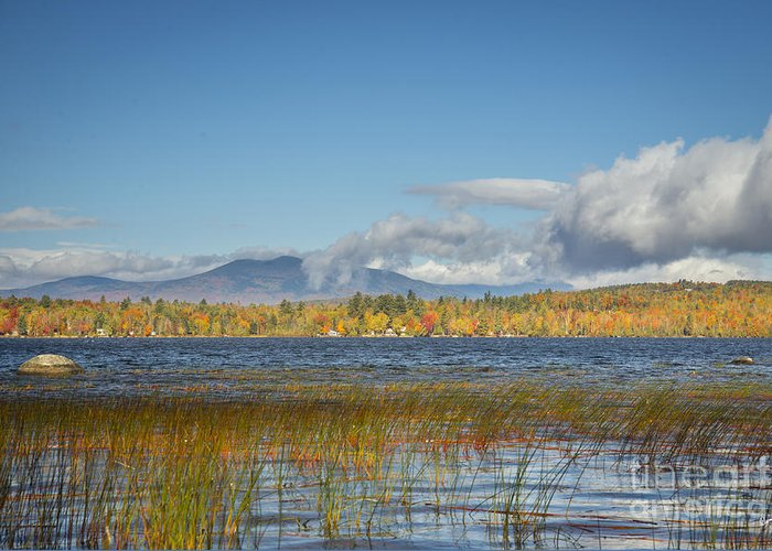 Fall Foliage Of Maine Greeting Card featuring the photograph High Peaks Autumn by Alana Ranney