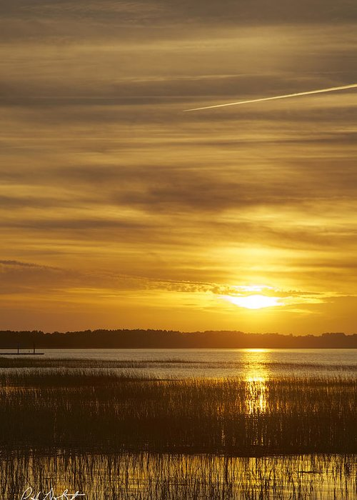 Beaufort County Greeting Card featuring the photograph High Tide In The Marsh by Phill Doherty