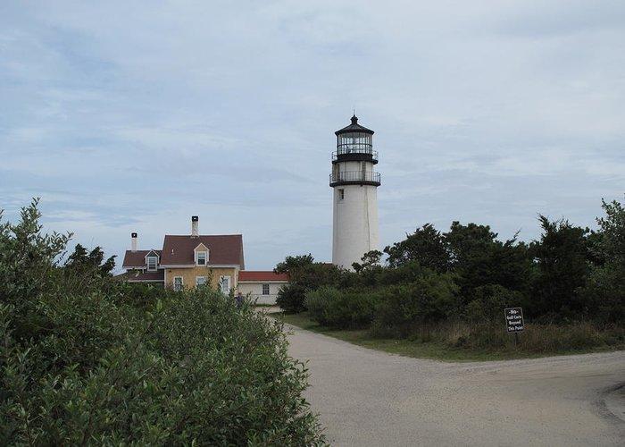 Lighthouse Greeting Card featuring the photograph Highland Light Aka Cape Cod Light by Barbara McDevitt