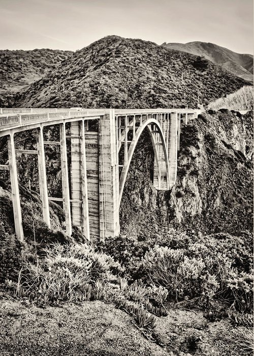 Bixby Greeting Card featuring the photograph Highway 1 by Heather Applegate