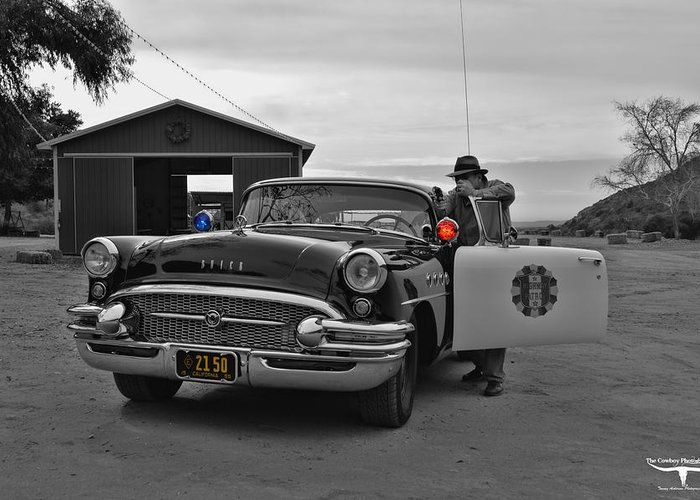 Highway Patrol Greeting Card featuring the photograph Highway Patrol 5 by Tommy Anderson