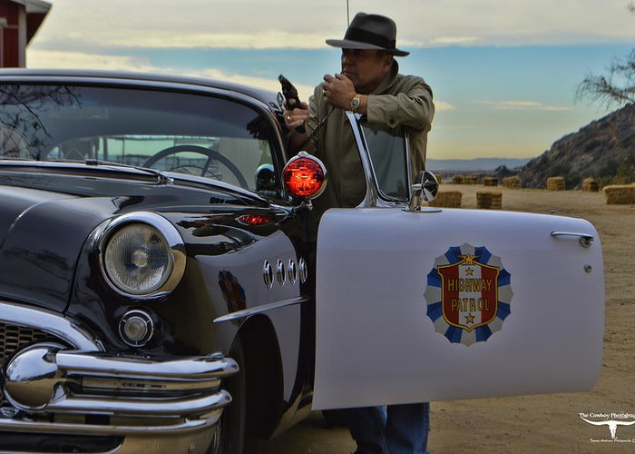 Highway Patrol Greeting Card featuring the photograph Highway Patrol 6 by Tommy Anderson