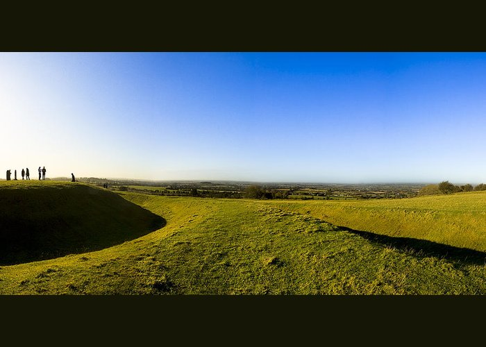 Hill Of Tara Greeting Card featuring the photograph Hill Of Tara - Landscape Panorama by Mark E Tisdale