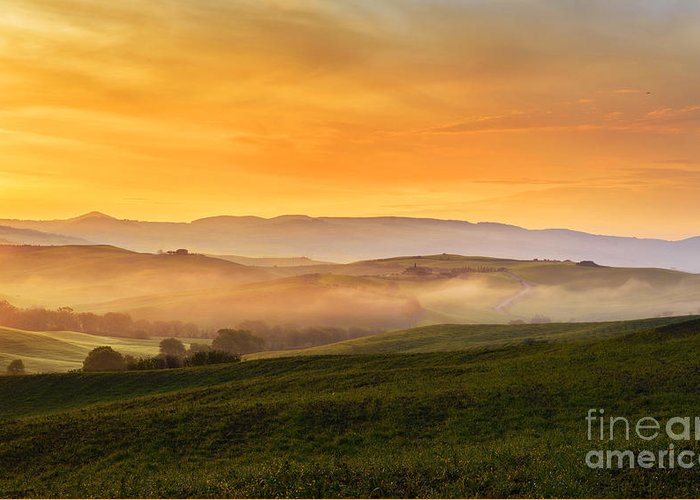 Tuscan Hills Photographs Greeting Cards