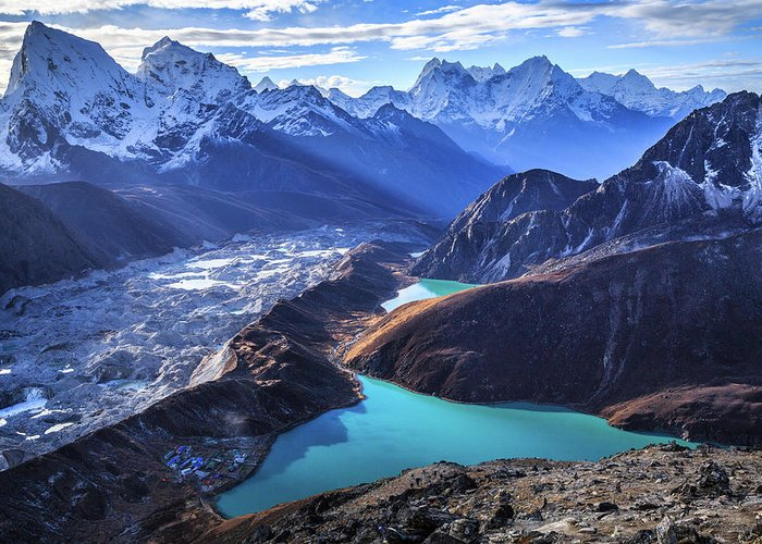 Tranquility Greeting Card featuring the photograph Himalaya Landscape, Gokyo Ri by Feng Wei Photography
