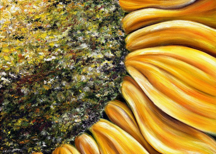 Sun Flower Greeting Card featuring the painting Himawari by Hiroko Sakai