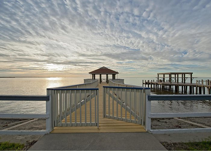 Cypremort Point Pier Greeting Cards