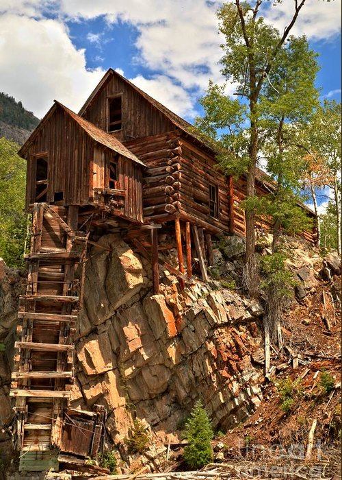 Crystal Colorado Greeting Card featuring the photograph Historic Crystal Mill by Adam Jewell