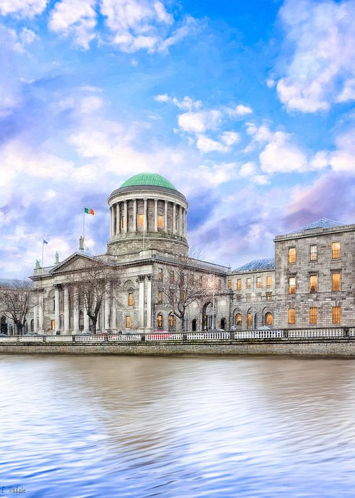 Dublin Greeting Card featuring the photograph Historic Four Courts In Dublin Ireland by Mark E Tisdale