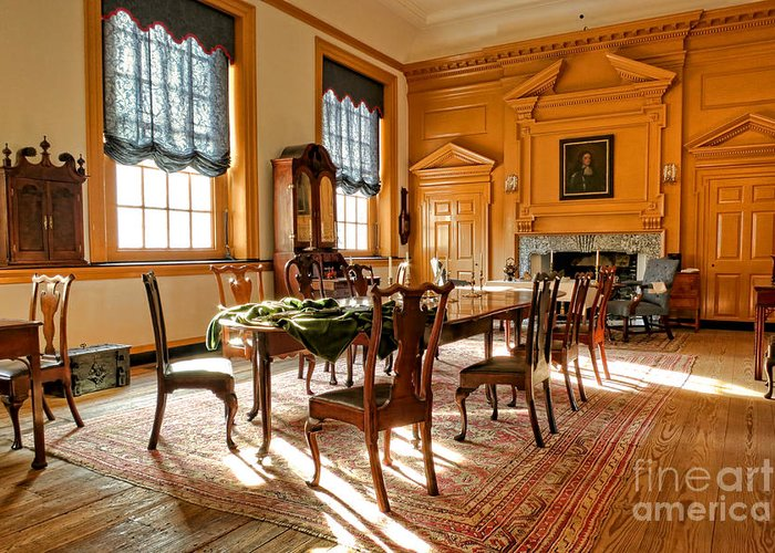 Philadelphia Greeting Card featuring the photograph Historic Governor Council Chamber by Olivier Le Queinec